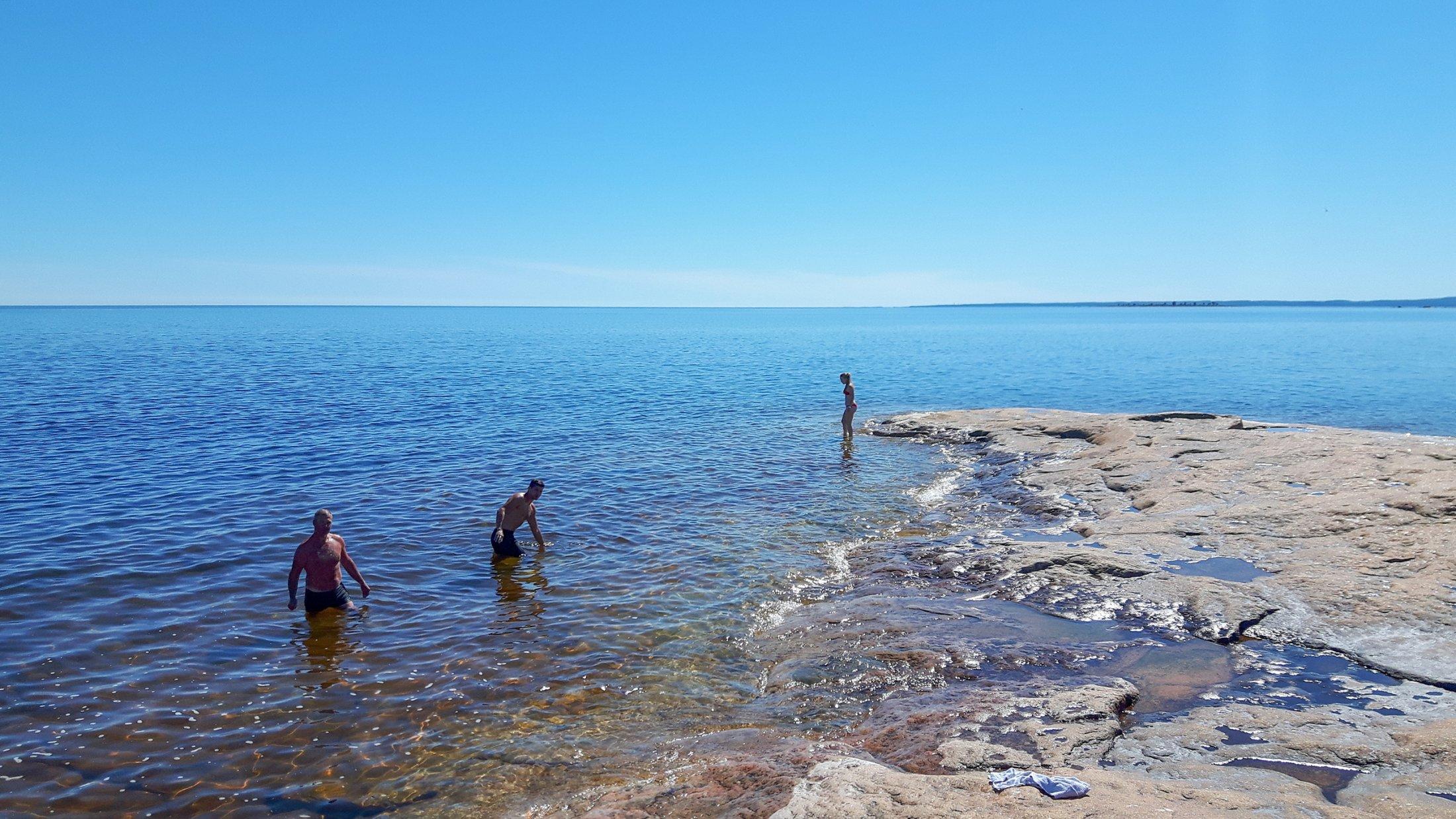 Bad på Hamnskär 2016-07-21