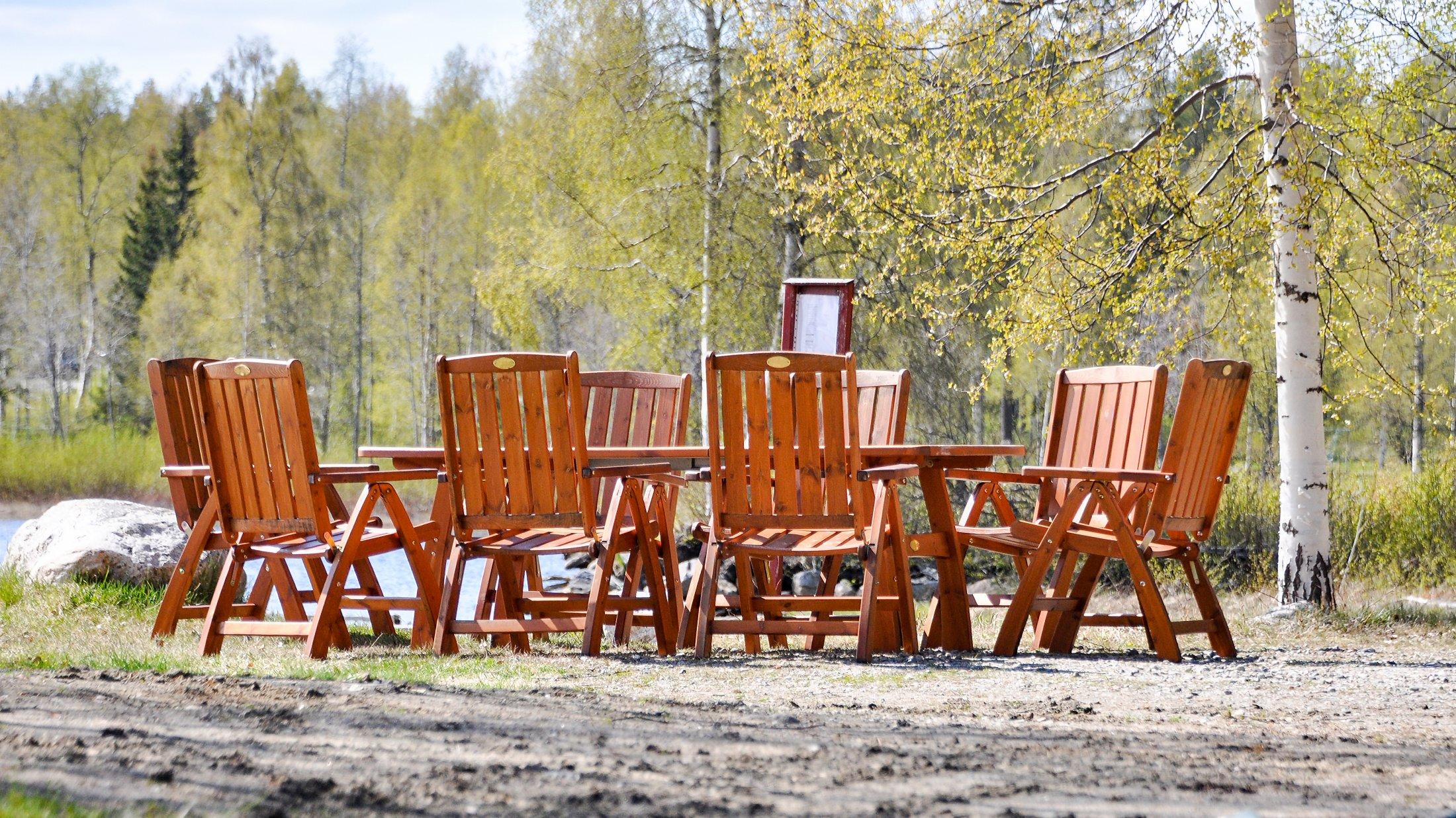 Partyplats i Furuögrunds hamn